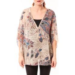 Abbigliamento Donna Tuniche De Fil En Aiguille Tunique Love Look B42 Beige/Multicolor Multicolore