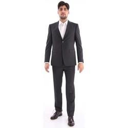 Abbigliamento Uomo Completi Z Zegna ABITO  NERO GESSATO BIANCO Black