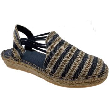 Scarpe Donna Sandali Toni Pons NOA sandalo corda blu natural righe chiuso animal free espadri blu