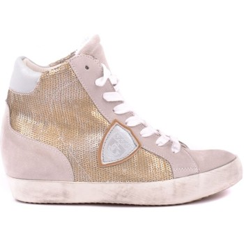 Scarpe Donna Sneakers alte Philippe Model Paris PHILIPPE MODEL HI TOP SNEAKERS DONNA MCBI238036O          ORO/ROSA