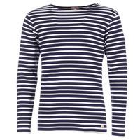 Abbigliamento Uomo T-shirts a maniche lunghe Armor Lux GELGA Marine / Bianco
