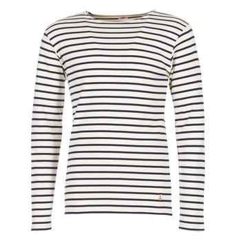 Abbigliamento Uomo T-shirts a maniche lunghe Armor Lux GELGA Bianco / Marine