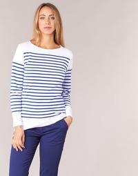 Abbigliamento Donna T-shirts a maniche lunghe Armor Lux ROADY Bianco / Blu