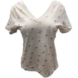 Abbigliamento Donna T-shirt maniche corte Dress Code Tee Shirt Zinka Beige signe Rose KT107 Beige