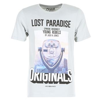 Abbigliamento Uomo T-shirt maniche corte Jack & Jones FASTER ORIGINALS Grigio