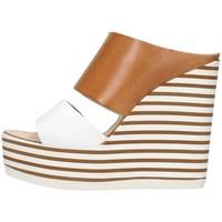 Scarpe Donna Sandali Zoe Mic100/02 Cuoio/bianco