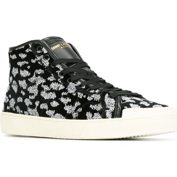 Scarpe Uomo Sneakers alte Saint Laurent SAINT LAURENT HI TOP SNEAKERS UOMO 442021GRS001054          BIANCO/NERO