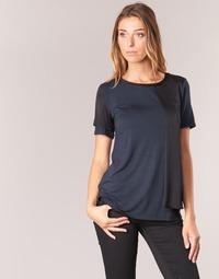 Abbigliamento Donna T-shirt maniche corte Armani jeans DRANIZ Marine / Nero