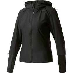 Abbigliamento Donna Felpe in pile adidas Performance Giacca a vento Response Hooded Nero