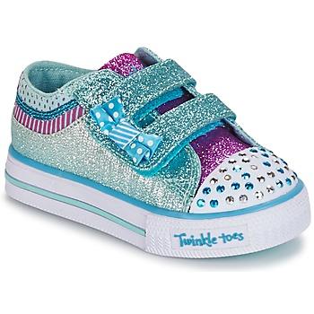 Scarpe Bambina Sneakers basse Skechers Shuffles Bianco / BLUE
