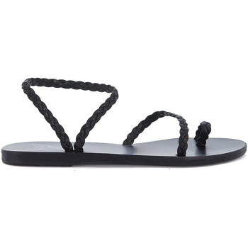 Scarpe Donna Sandali Ancient Greek Sandals Sandalo  Eleftheria in pelle nera intrecciata Nero