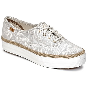 Scarpe Donna Sneakers basse Keds TRIPLE DALMATA DOT LEATHER Cream