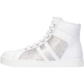 Scarpe Bambina Sneakers alte Hogan Junior HXC1410P990FTD0R37 Sneakers Bambina Bianco/argento Bianco/argento