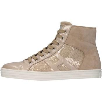 Scarpe Bambino Sneakers alte Hogan Junior HXR14100801361PM024 Sneakers Bambino Beige Beige