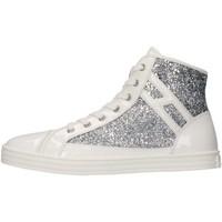 Scarpe Bambina Sneakers alte Hogan Junior HXR1410I050BZ00906 Sneakers Bambina Argento/bianco Argento/bianco