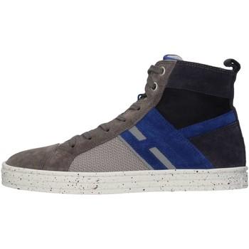 Scarpe Bambino Sneakers alte Hogan Junior HXR1410U770FUW0XTS Sneakers Bambino Grigio/blue Grigio/blue