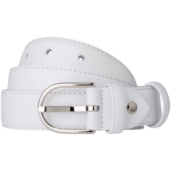 Accessori Donna Cinture Dudu Cintura Donna Made in Italy in morbida Pelle Nappa da 28mm Acco Bianco