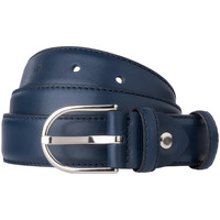 Accessori Donna Cinture Dudu Cintura Donna Made in Italy in morbida Pelle Nappa da 28mm Acco Blu