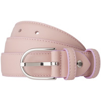 Accessori Donna Cinture Dudu Cintura Donna Made in Italy in morbida Pelle Nappa da 28mm Acco Rosa