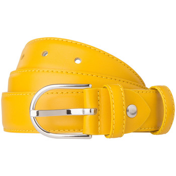 Accessori Donna Cinture Dudu Cintura Donna Made in Italy in morbida Pelle Nappa da 28mm Acco Giallo