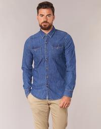 Abbigliamento Uomo Camicie maniche lunghe Casual Attitude IHERZI Blu / Medium