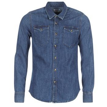 Abbigliamento Uomo Camicie maniche lunghe Yurban IHERZI Blu / Medium