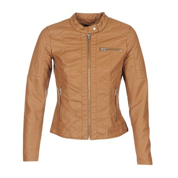 Abbigliamento Donna Giacca in cuoio / simil cuoio Only READY COGNAC