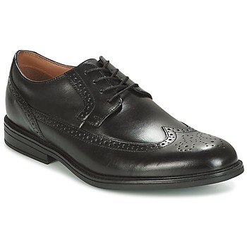 Scarpe Uomo Derby Clarks BLACK LEATHER Nero