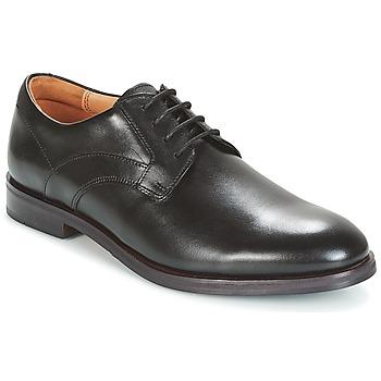 Scarpe Uomo Derby Clarks Black Leather Nero