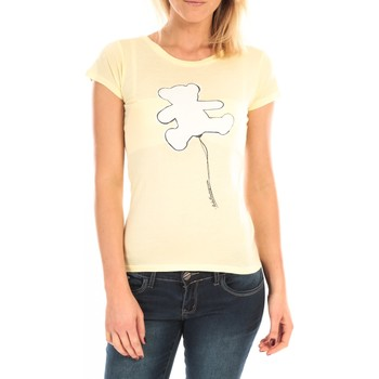 Abbigliamento Donna T-shirt maniche corte LuluCastagnette T-Shirt Pics Printe Ours Jaune Giallo