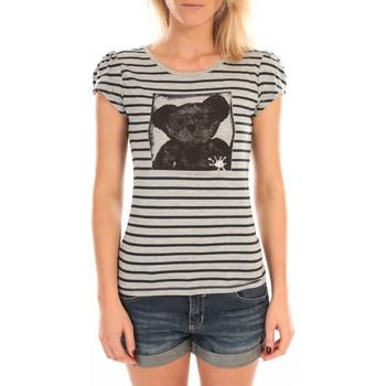 Abbigliamento Donna T-shirt maniche corte LuluCastagnette T-Shirt Liss Rayure Gris Grigio