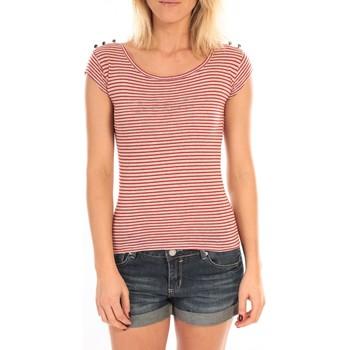 Abbigliamento Donna T-shirt maniche corte LuluCastagnette T-Shirt Jeny Rayé Rouge Rosso