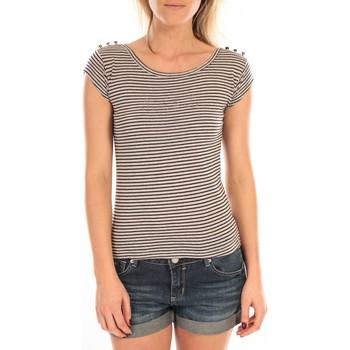 Abbigliamento Donna T-shirt maniche corte LuluCastagnette T-Shirt Jeny Rayé Bleu Blu