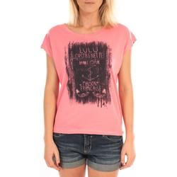 Abbigliamento Donna Top / Blusa LuluCastagnette Top Luna Print Rose Rosa