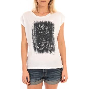 Abbigliamento Donna Top / Blusa LuluCastagnette Top Luna Print Blanc Bianco