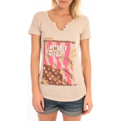 Abbigliamento Donna T-shirt maniche corte LuluCastagnette T-Shirt Mimi Flamme Print Beige Beige