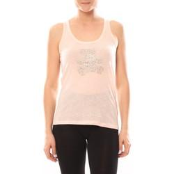 Abbigliamento Donna Top / Blusa LuluCastagnette Débardeur Transfert Ours Poudre Rosa
