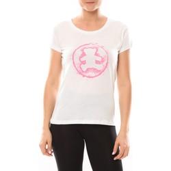 Abbigliamento Donna T-shirt maniche corte LuluCastagnette T-shirt Happy Blanc Bianco