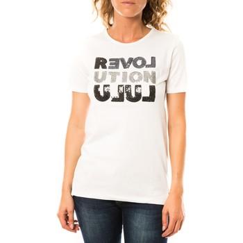 Abbigliamento Donna T-shirt maniche corte LuluCastagnette T-shirt Sequy Blanc Bianco
