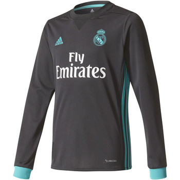 Abbigliamento Bambino T-shirts a maniche lunghe adidas Performance Real Madrid Extérieur 2017 / 2018 Youth LS Nero