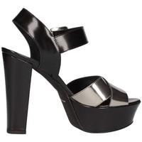 Scarpe Donna Sandali Emporio Di Parma 625 Sandalo Donna Nero/acciaio Nero/acciaio
