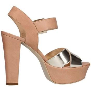 Scarpe Donna Sandali Emporio Di Parma 625 Sandalo Donna Cuoio/platino Cuoio/platino