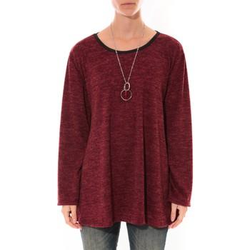 Abbigliamento Donna Tuniche Barcelona Moda Tunique  Fashion Moda Bordeaux Rosso