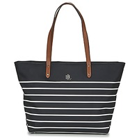 Borse Donna Tote bag / Borsa shopping Ralph Lauren BAINBRIDGE TOTE Nero / Bianco