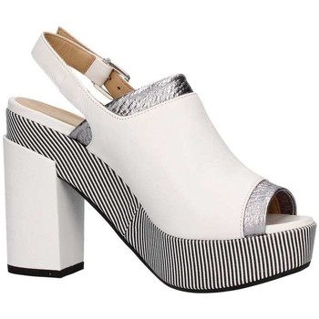 Scarpe Donna Sandali Lazzari Felici 2729 Sandalo Tacco Donna Bianco/argento Bianco/argento