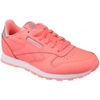 Scarpe Unisex bambino Sneakers basse Reebok Sport Classic Leather rosa