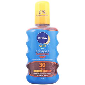 Bellezza Protezione solare Nivea Sun Protege&broncea Aceite Spf30  200 ml