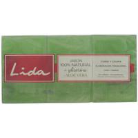 Bellezza Corpo e Bagno Lida Jabón 100% Natural Glicerina Y Aloe Vera Lote 3 Pz 3 u