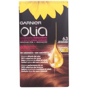 Bellezza Donna Tinta Garnier Olia Coloración Permanente 6,3 Rubio Oscuro Dorado 4 Pz 4 u