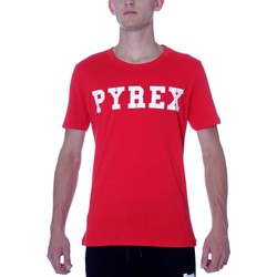 Abbigliamento T-shirt maniche corte Pyrex T-Shirt  Unisex PY28300-1 in Jersey New Made in Italy Rosso